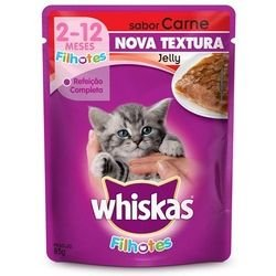 Whiskas 85G Jelly Carne Junior