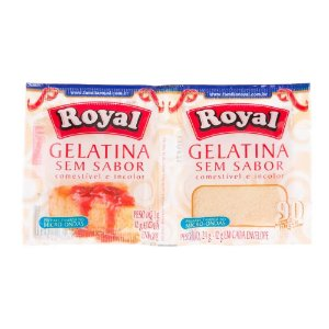 GELATINA ROYAL SEM SABOR 12G C/2UNDS