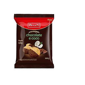 BISC PARATI AMANTEIGADO SABOR CHOCOLATE E COCO 200G