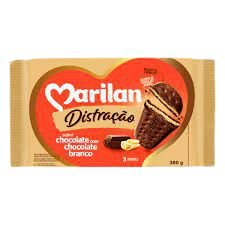 BISCOITO MARILAN DISTRACAO 360G CHOCOCOLATE COM CHOCOLATE BRANCO