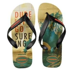 Sandália Havaiana Surf FC 43/44 Bege