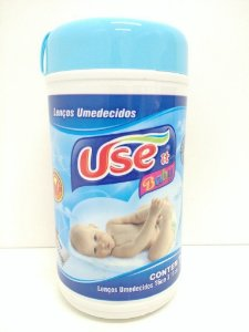 Lencos Umidecidos Use It Baby Pote azul c/70 Unidades