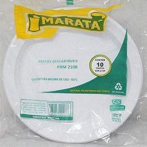 Prato Descartavel Marata 21cm Com 10 Unidades PRM 210r