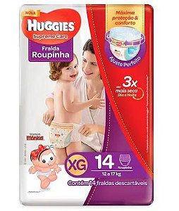 FRALDA HUGGIES XG 14 UNDS ROUPINHA