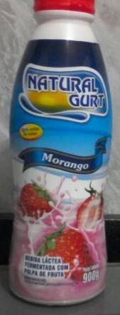Bebida Lactea Natural Gurt 180G Morango