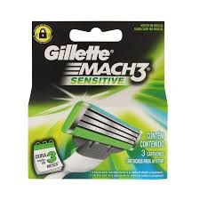 Recarga Gillette Mach3 Sensitive com 2 Cartuchos