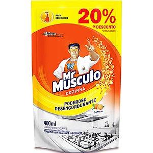 LIMPADOR MR MUSCULO 400ML COZINHA 20%DESC LARANJA