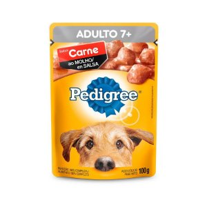PEDIGREE 100G ADULTO 7+ ANOS CARNE