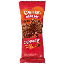 BISCOITO MARILAN COOKIES 40G CHOCOLATE COM  GOTAS DE CHOCOLATE