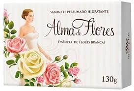 SABONETE ALMA DE FLORES 130G FLORES BRANCAS