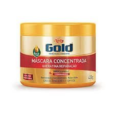 CREME DE TRATAMENTO NIELY GOLD 430G QUERATINA REPARAÇAO