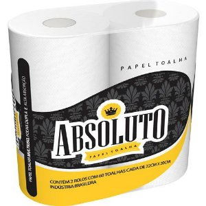 PAPEL TOALHA ABSOLUTO F.DUPLA C/2UNDS