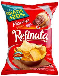 BATATA LISA REFINATA 54G PICANNHA