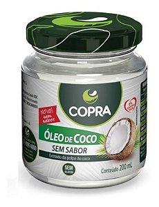 OLEO DE COCO COPRA 200ML SEM SABOR