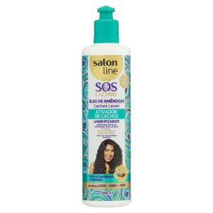 ATIVADOR CACHOS SALON LINE 300ML OLEO DE AMENDOAS