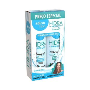 KIT SHAMPOO+CONDICIONADOR SALON LINE 300ML HIDRA SUPER LISO