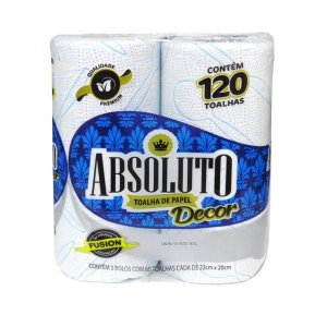 PAPEL TOALHA ABSOLUTO DECORADO  C/2UND