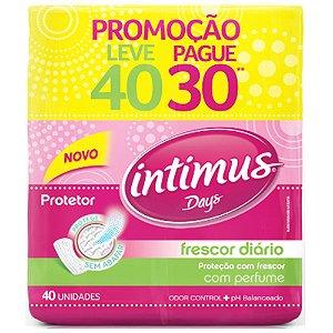 PROTECAO DIARIO INTIMUS DAYS LEVE 40 PAGUE 35 COM PERFUME