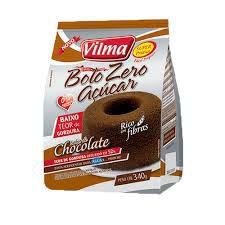 MISTURA DE BOLO VILMA 340G CHOCOLATE ZERO ACUCAR