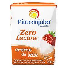 CREME DE LEITE PIRACANJUBA 200G 0% LACTOSE