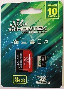 Cartao de memoria 8GB + Adptador micro sd Hontek