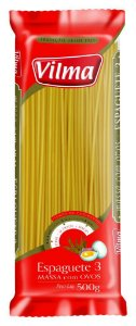 MACARRAO VILMA 500G ESPAGUETE N.3 COM OVOS