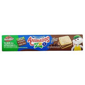BISCOITO RICHESTER 130G RECHEADO CHOCOLATE ANIMADOS ZOO