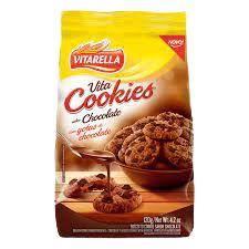 BISCOITO VITARELLA COOKIES 120G CHOCOLATE