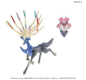 Pokémon Xerneas & Diance Set Plamo Collection - Original Bandai