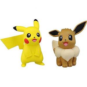 Pokémon Moncollé EX-ESP 10 Pikachu & Eevee Original