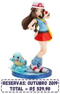 Pokemon - ARTFX J Leaf with Squirtle - Original *Pré-Venda*  (10% de ENTRADA)