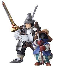 Final Fantasy IX - Bring Arts Vivi Ornitier & Adelbert Steiner (Set c/ 2 Figuras) -Original-