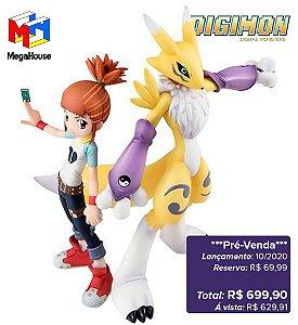 *Pré-venda* [10% de ENTRADA] Digimon Tamers - G.E.M.Series Makino Ruki & Renamon [Original MegaHouse]