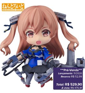 *Pré-venda* [10% de ENTRADA] Nendoroid #1335 - Kantai Collection -KanColle- Johnston [Original Good Smile]