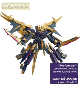*Pré-venda* [10% de ENTRADA] Moderoid - Black Shinkalion [Original Good Smile]