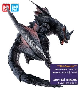 *Pré-venda* [10% de Entrada] S.H.MonsterArts - Nargacuga - Monster Hunter World: Iceborne [Original Bandai]