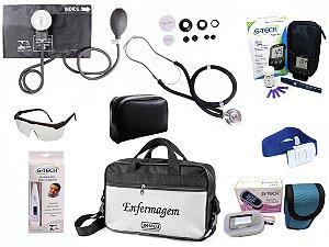 Kit Completo de Enfermagem com 8 itens - Preto