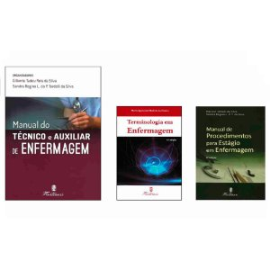 Kit Enfermagem: Manual Do Técnico + Terminologia + Procedimentos para Estágio