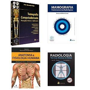 Kit Radiologia: Tomografia + Radiologia Técnicas Básicas + Mamografia Posicionamentos + Anatomia e Fisiologia Humana