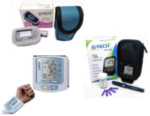 Kit Enfermagem: Oxímetro - G-Tech  + Medidor De Glicose + Aparelho Digital G-TECH