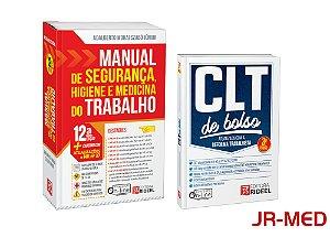 Kit: Manual De Segurança Higiene E Medicina Do Trabalho 2018 + Clt De Bolso Atualizada Com A Reforma Trabalhista