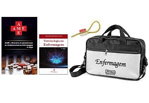 Kit Enfermagem: Ame Dicionário de Administração de Medicamentos 11ª Edição + Terminologia na Enfermagem+ Bolsa JRMED