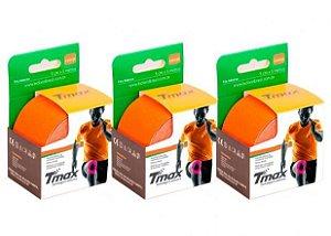 3 Fitas Kinesio Tmax Original Bandagem Elástica 5 Mts Laranja