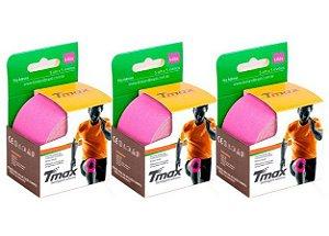3 Fitas Kinesio Tmax Original Bandagem Elástica 5 Mts Lilás