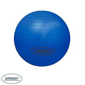 Bola Suíça 65 cm para Ginástica , Yoga , Pilates e Fisioterapia Azul - Supermedy
