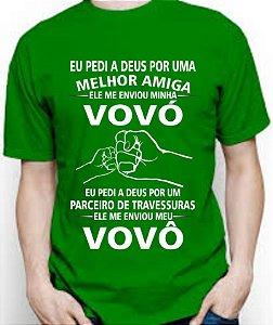 VOVÓ e VOVÔ Camisa em malha algodão 30.1