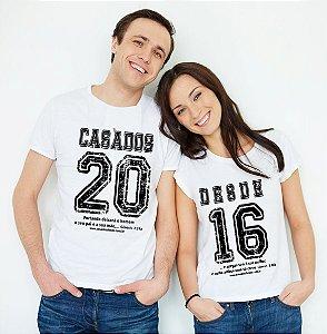 Casados Desde 2016 (casadinha) Básica e Baby Look