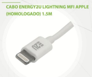 Cabo E2U Lightning MFI Branco 1,5m