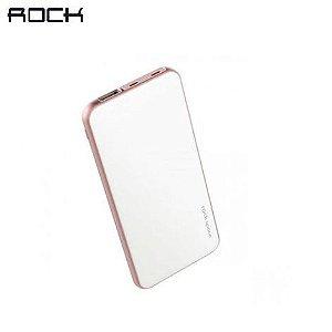 Bateria Portátil Rock Space Cardee 3.7 V 5000mAh (18.5Wh) C/ Porta Lightning p iOS e Android Branco