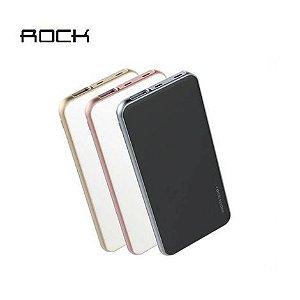Bateria Portátil Rock Space Cardee 3.7 V 10000mAh (37Wh) C/ Porta Lightning para iOS e Android Preto
